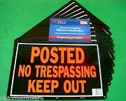 24 Pc Hy-ko 10x14 Aluminum Posted No Trespassing Keep Out Trespassing Sign 813