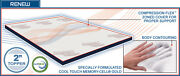 Memory-cell Latex Innerspring Airbed Mattress Topper Pad