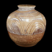 FINE VINTAGE CHARLES COUNTS SGRAFFITO ART POTTERY VASE MID-CENTURY MODERN LISTED