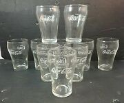 Vintage Coca Cola Glasses Enjoy Coke Bell-shaped Glass Fountain Tumblers 4 Tall