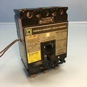 Square D Fhl3610016dc1684 100a Dc Circuit Breaker W/ Aux And Uvr 500v 3p 100 Amp