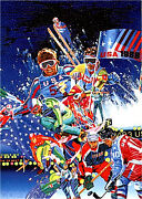 Hiro Yamagata Winter Olympic Games Limited Edition Serigraph Signed And Numbered