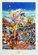 Hiro Yamagata Summer Olympic Games Limited Edition Serigraph Signed And Numbered