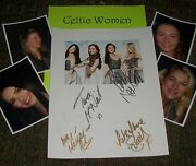 Celtic Women Autographed Photo And Photos Real Collectible