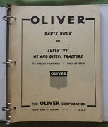 Genuine 1957 1958 Oliver Super 99 Hc And Diesel Tractor Parts Catalog Manual Nice