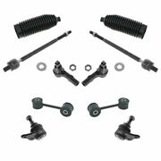 10 Piece Steering And Suspension Kit Ball Joints Tie Rods Sway Bar End Links New