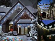 Christmas 720 Icicle Snowing Led Xmas Chaser Lights Party Outdoor Indoor Garden