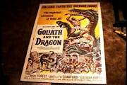 Goliath And Dragon Orig Movie Poster 1960 Mark Forest Sword And Sandal Horror