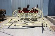 Restored 4 Passenger Democrat Wagon With Shafts And Team Pole Made In New York