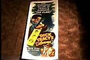 Dick Tracys Dilemma 1947 Rolled Insert 14x36 Movie Poster Ralph Byrd Linen
