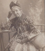 1890s Cabinet Card Photo Rachel Wooding Blystone Age 76 Crawford County Pa