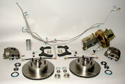 1955 Chevrolet Front Disc Brake Conversion Kit Power Stainless Steel Lines