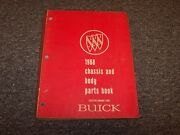 1968 Buick Special Skylark Lesabre Riviera Chassis And Body Parts Catalog Manual