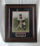 Al Kaline Photo Signed/matted/framed And Sold At A Tigers Charity Aution-wow