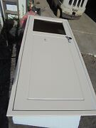 Starboard Entry Door 57 1/8h X 24 3/8w Cut Out W/ Perko Harware And Window