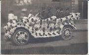 1910s Rp Postcard Marion Police Officers In Parade Car Float
