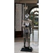 Medieval Italian Armor Suit And Halberd Sculpture 16th Century Knight 6 Ft. 72 H