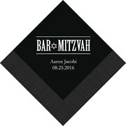 100 Bar Mitzvah Personalized Cocktail Napkins