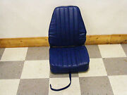 Highback Deluxe Fold-down Boat Seat Solid Blue
