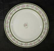 Antique Imperial China Austria Large Round Platter * Roses Green Gold
