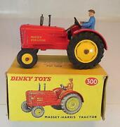 Dinky Toys 300 Massey Harris Tractor - Trecker - Schlepper Rot In O-box 5399