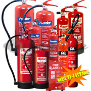 Fire Extinguishers - Dry Powder Abc, Foam ,co2 And Water All Types Sizes And Qty's