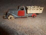 Vintage Hubley 2224 Cast Iron Stake Truck 3 1/2  1