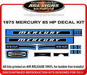 1975 Mercury 85 Hp 850 Reproduction Outboard Decal Set Sticker