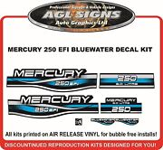1999 2000 2001 Mercury 250 Efi Bluewater Decal Set 200 125 150 Also Avail.
