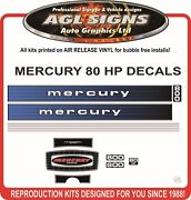 1978 Mercury 800 Decals 80 Hp Outboard Reproduction Sticker