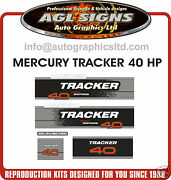 Mercury Tracker 40 Decals Merc Outboard Reproductions