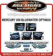 1999 Mercury 200 Optimax Bluewater Replacement Decal Set 135 150 225