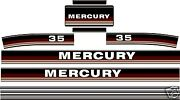 1984 1985 Mercury 35 Hp Reproduction Outboard Decal Kit 50 Hp Also
