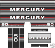 1987 Mercury 50 Oil Injected Reproduction Decal Kit