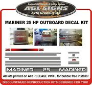 1994 1995 Mariner 25 Hp Outboard Decals Reproductions