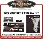 1993 Johnson 9.9 Hp Replacement Outboard Decal Kit