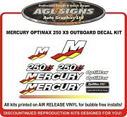Mercury Optimax 250 Xs Racing Outboard Reproduction Decal Kit