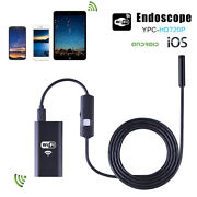 5 Meters 2mp Wi-fi Waterproof Endoscope Inspection Camera Ios Android Windows