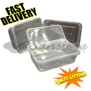 High Quality Food Plastic Containers Microwave Freezer Safe Takeaway All Sizes