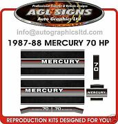 1987 1988 1989 Mercury 70 Hp Reproduction Outboard Decal Set 80 90 Hp