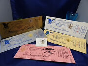1989 Inauguration 5 Complete Unused Tickets To Presidential Ball-gala-ghw Bush