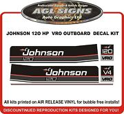 Johnson 120 Hp Vro Reproduction Outboard Decal Kit Also 110 115 140 Hp