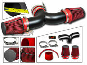 Matte Black Air Induction Intake Kit + Dual Dry Filter For 04-07 Liberty 3.7l V6