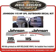 1997 1998 Johnson 115 Hp Spl Outboard Replacement Decal Kit Also 90 Hp