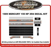 1989 Mercury 150 Hp Xr4 Outboard Decals Reproduction