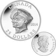 2014 25 Ultra-high Relief Fine Silver Coin - 75th Ann. Of The First Royal Visit