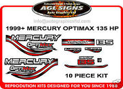 1999 Mercury 135 Optimax Bluewater Outboard Decal Set 150 200 225