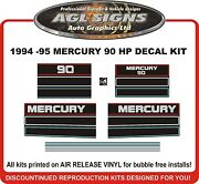 1994 1995 Mercury 90 Hp Reproduction Outboard Decals 125 Hp Also