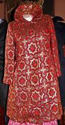 Vintage1940gene Burton Rare Beautiful Red And Gold Long Coatgorgeous And Quality