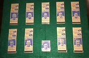 1949 Aafc Baltimore Colts Matchbook Cover Set Of 10 With Tittle And Gambino 1 Bk